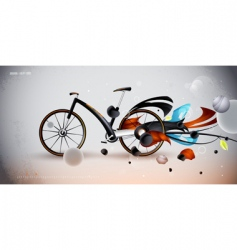 concept bike for urban vector image vector image
