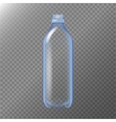Empty Transparent Bottle Realistic Blank Mock Up vector image