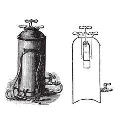 Fire Extinguisher vintage engraved vector image vector image