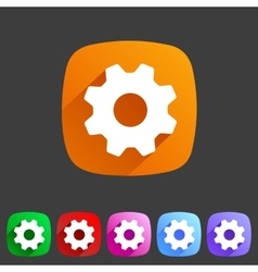 Flat icon settings vector image