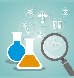 laboratory research biology medical vector image
