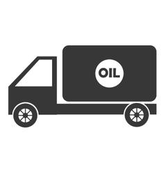 black cargo truck graphic vector image