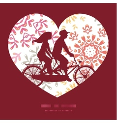 folk floral circles abstract couple on vector image