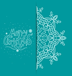 Greeting card with snowflakes-2 vector image vector image
