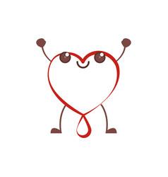 kawaii heart blood donation vector image