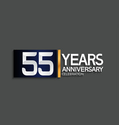 55 years anniversary logotype with blue vector