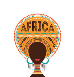 Africa day with african woman vector