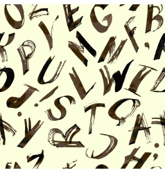 Alphabet pattern Hand drawn lettersfont vector