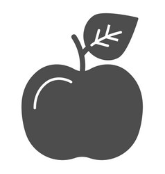 apple solid icon fruit vector image