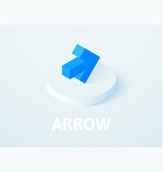 arrow isometric icon isolated on color background vector image