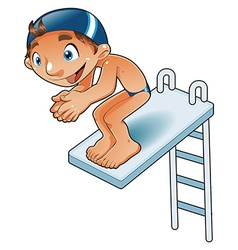 Baby Diver vector image