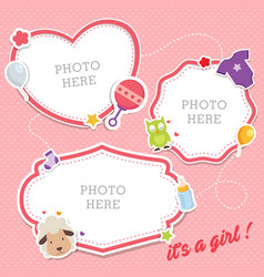 Baby photo frames template vector