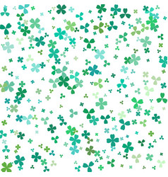 background for st patricks for design with clover vector image