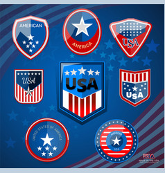 Badge of american vector
