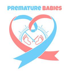 Banner of births a newborn prints vector