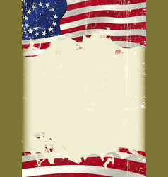 betsy ross flag grunge background vector image