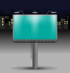 Billboard in the night city vector image