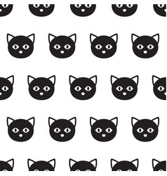 black heads cats pattern vector image