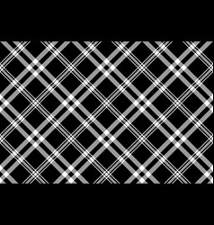 black white simple check plaid seamless pattern vector image