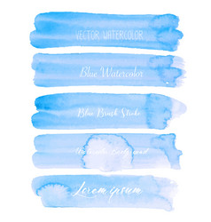 blue brush stroke watercolor on white background vector image