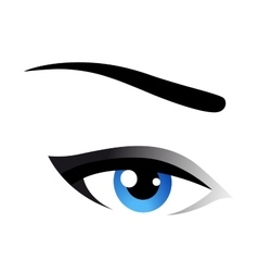 blue eye icon vector image