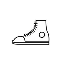 casual sneaker shoe thin line icon design vector image