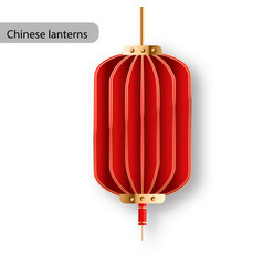 Chinese lanterns or paper lights isolated vector