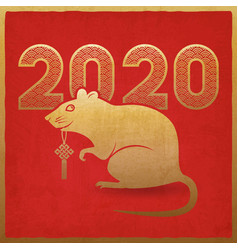 chinese new year 2020 card vector image