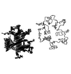 Columbus city map vector