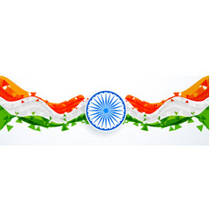 Creative abstract style indian flag design vector