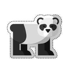 Cute bear panda character icon vector