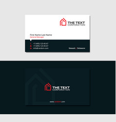 Dark business card for real estate agency vector