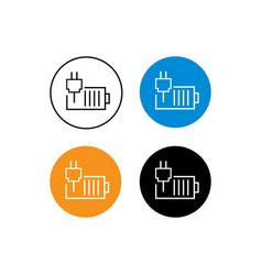 Design icon charging batteries vector