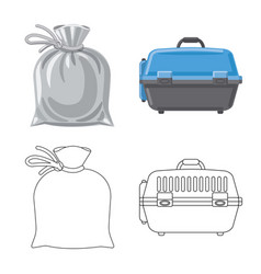 Design of suitcase and baggage symbol set vector