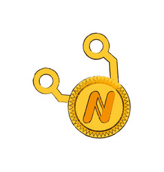 drawing namecoin web icon vector image