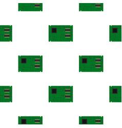 Electronic board pattern flat vector