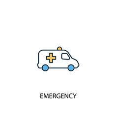 emergency concept 2 colored line icon simple vector image