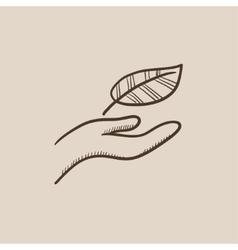 Environmental protection sketch icon vector