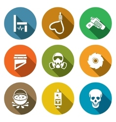 Execution Icons Set vector image