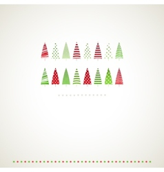 Fir-trees winter events background vector