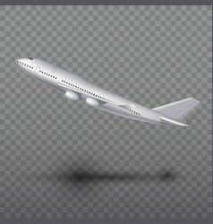 flying airplane jet aircraft airliner side view vector image