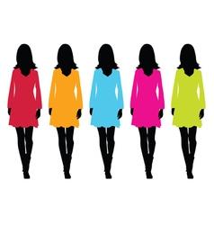 girl in dress set vector image