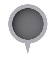 grayscale circle chat bubble icon vector image