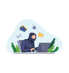 hacker activity concept vector image