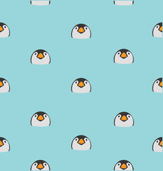 head baby penguin pattern vector image