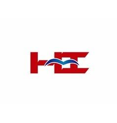 HI company linked letter logo vector image