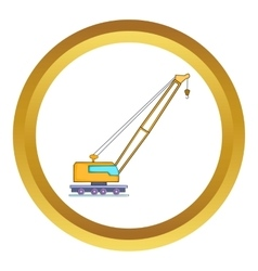 High crane icon vector
