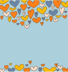 Holiday background with hearts for Valentines day vector