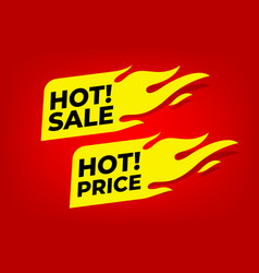 Hot sale and hot price fire labels vector