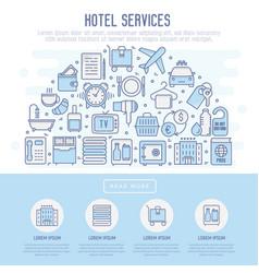 hotel services concept in half circle vector image